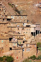 Homes built atop one another, Atlas Mountains, Morocco