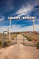 Road to Abandoned School at Amboy, California