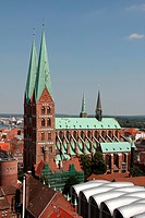 Old City of Luebeck, St. Mary´s Church