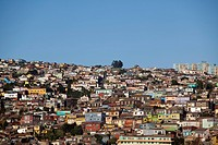 Colorful houses on hillside, Valparaiso, Chile, South America