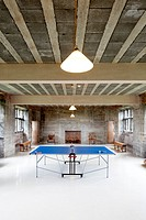 Ping pong room at Tixall Gatehouse, holiday home, booking via Landmarktrust, Stafford, Staffordshire, England, Great Britain, Europe