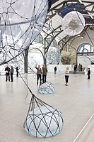 Hamburger Railway Station, Museum of Contemporary Art, exhibition Tomas Saraceno Cloud Cities, 15 September 2011 till 19 February 2012, Berlin, German...