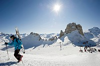 Ski resort, Tignes, Val d Isere, Savoie department, Rhone_Alpes, France