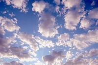 cloudy blue spring sky sun_lit background