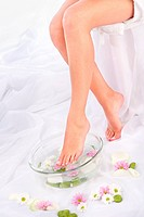 legs in aromatherapy bowl