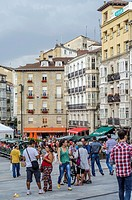 Virgen Blanca square architecture  Vitoria city, European Green Capital, Basque country, Spain