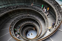 Spiral staircase in the Vatican museums Italian: Musei Vaticani