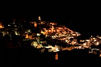 Night view of Matera, Italy