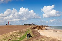 Walkers Light House & Church Happisburgh Norfolk UK