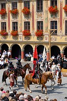 Wallenstein1630 Festival in Memmingen, Allgaeu, Bavaria, Germany