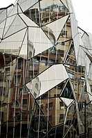 Detail of modern Glass building, Bilbao, Basque Country, Biscay, Spain