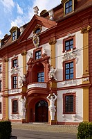 Central risalit, Kurmainzische Lieutenancy, State Chancellery, Erfurt, Thuringia, Germany