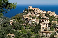 Hilltop village of Deia, Mallorca, Spain