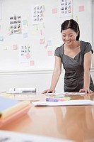 Chinese businesswoman working in office