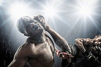 African American MMA fighters fighting