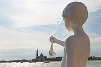 ´Boy with a Frog´ statue on Punta della Dogana