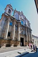 Church of San Bartolomé, Pontevedra, Galicia, Spain.