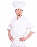 serious male chef