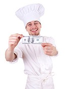male cook with money