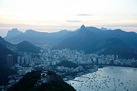 View over Rio de Janeiro seen from the top of the Sugar Loaf Mountain, Rio de Janeiro, Brazil, South America