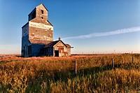 Abandoned grain elevator.