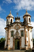 Sao Francisco de Assis church, Ouro Preto, UNESCO World Heritage Site, Minas Gerais, Brazil, South America
