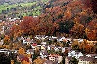 Autumn landscape of Baden, Switzerland