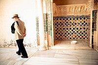 Man in La Alhambra, Andalusia, Spain