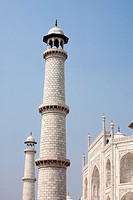 Minarets and the south facade of the Taj Mahal - Agra, Uttar Pradesh, India