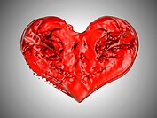 Love and Passion _ Red fluid heart shape