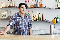 Portrait of bartender