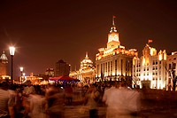 Historical buildings at the Bund, Shanghai, China