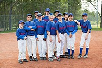 Team photo of boys baseball team