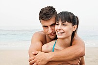 Portrait of couple on beach