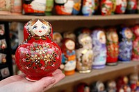 Matryoshka babushka dolls, St. Petersburg, Russia, Europe