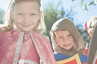 Children dressed as a princess and a knight