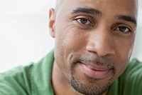 Close_up of African American man with serious look