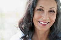 Portrait of pretty middle_aged woman smiling