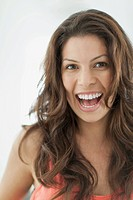 Portrait of pretty Latin American woman with big smile