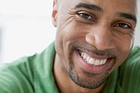 Close_up of African American man smiling