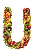 Letter U in produce