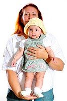 Happy mother with girl