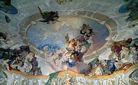 Mythological subject, detail from the painted ceiling of Vassalli hall, 1759, by Franz Anton Maulbertsch (1724-1796), Kromeriz Archbishop's Palace (UN...