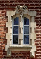 Architectural detail from Chateau de Suzanne, Picardy. France, 17th-19th century.