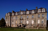 Rear facade of Chateau de Tregranteur, Guegon, Brittany. France, 18th-19th century.