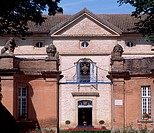 Facade of Chateau Latour, Midi-Pyrenees. Detail. France.