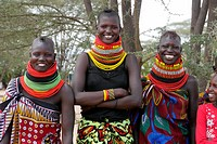 KENYA  Young Turkana tribal beauties of Lorugumu, Turkana   photo by Sean Sprague
