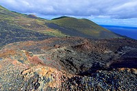 canary islands, la palma : volcano teneguia