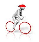 Cycling Road 3D symbol