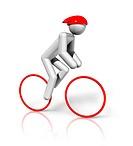 Cycling Road 3D symbol